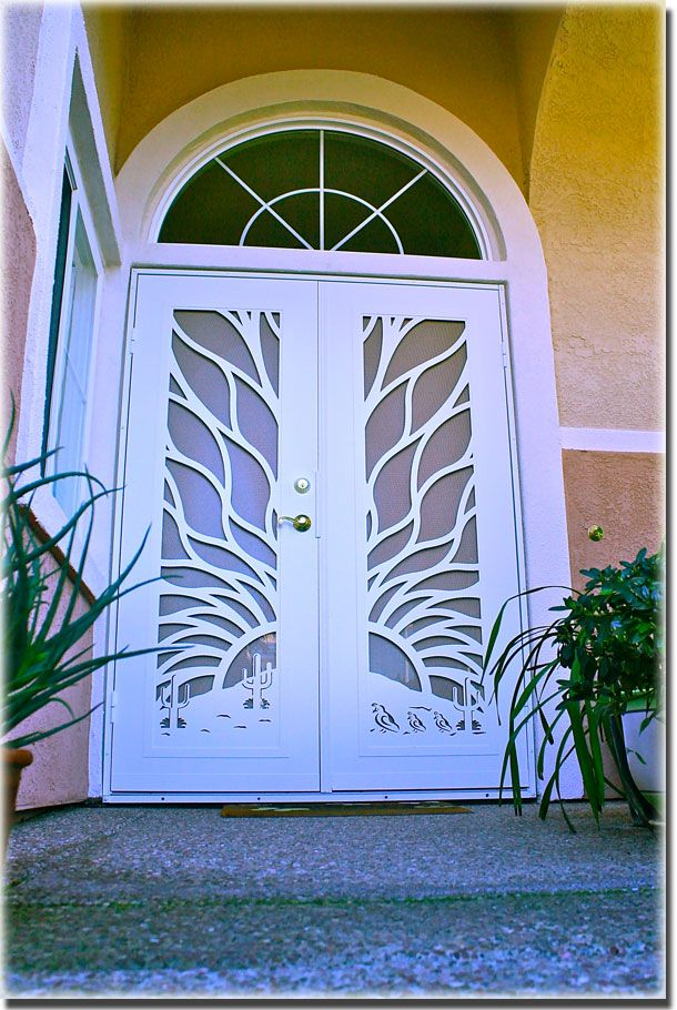 Atozscreens Sacramentoca Titancactusdoor Security Screen Door Installation Screen Door