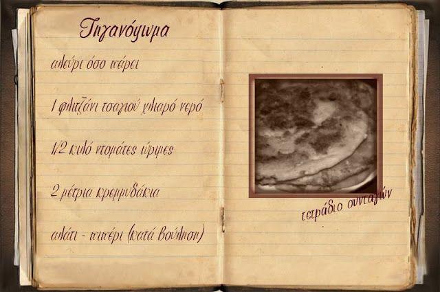 Συνταγές, αναμνήσεις, στιγμές... από το παλιό τετράδιο...: Τηγανόψωμα