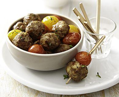 Mini Lamb Meatballs with Feta #meatballs #appetizer