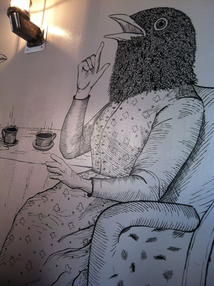Mural at the Bluebird Cafe, Lausanne, Switzerland