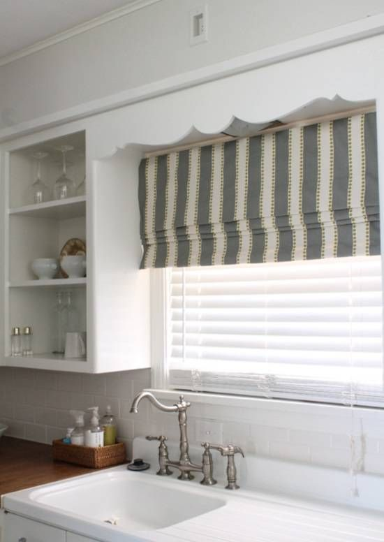 kitchen window shade diy roman shades from mini blinds from the mustard ceiling