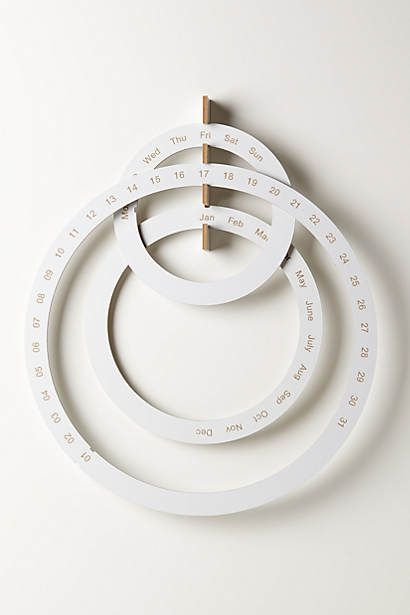 Perpetual Ring Calendar from anthropologie. This can't be that difficult to DIY...