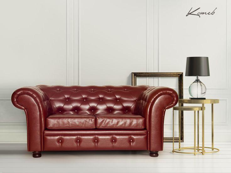 Sofa Alba Ciepły odzień brązu doskonale dopełnią złote dodatki.  sofa#skóra#brąz#design#interior#wnętrza#home#meble#aranżacja#inspiracje#furniture#HomeDecor