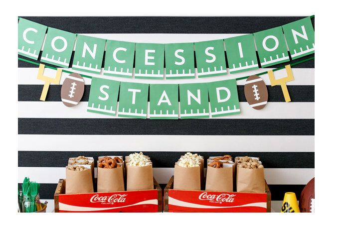 Concession Stand Banner - Football Party Decorations - Football Sunday - Football Birthday Party by ConfettiPopParty on Etsy https://www.etsy.com/listing/241330392/concession-stand-banner-football-party