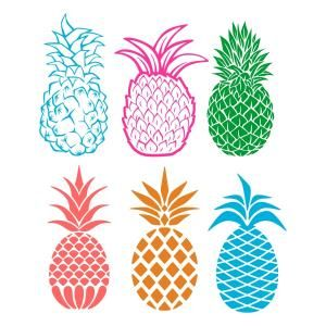 Pineapple Cuttable Design Cut File. Vector, Clipart, Digital Scrapbooking Download, Available in JPEG, PDF, EPS, DXF and SVG. Works with Cricut, Design Space, Sure Cuts A Lot, Make the Cut!, Inkscape, CorelDraw, Adobe Illustrator, Silhouette Cameo, Brother ScanNCut and other compatible software.