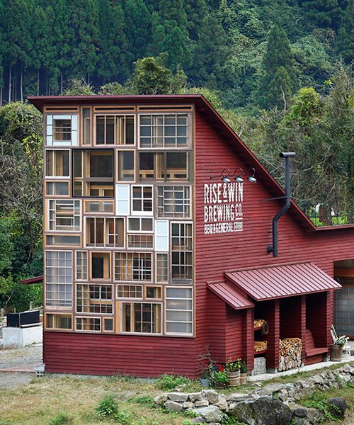 NAP architects uses recycled materials to build brewery for 'zero waste' town in japan
