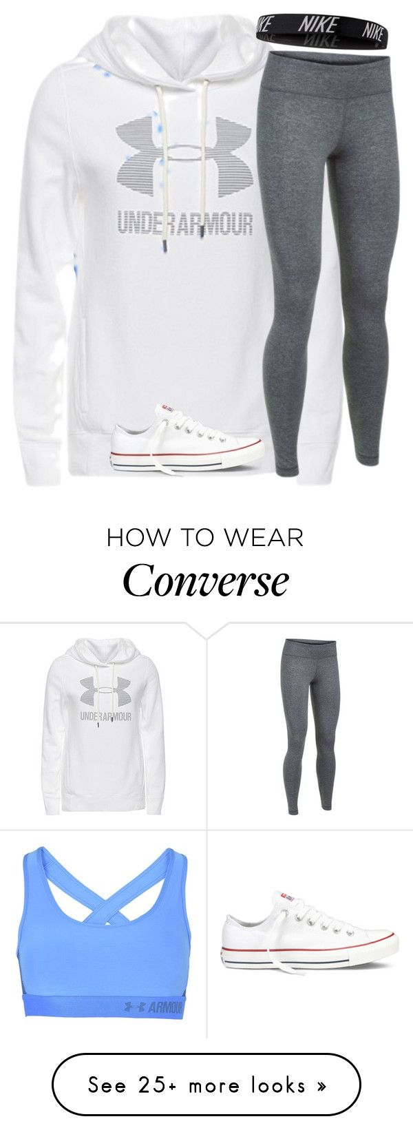"""Untitled #2513"" by laurenatria11 on Polyvore featuring Under Armour, NIKE and Converse"
