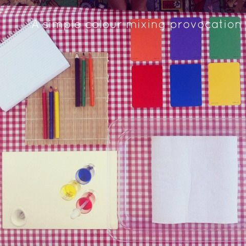 Reggio Activities - exploring secondary colours - An Everyday Story