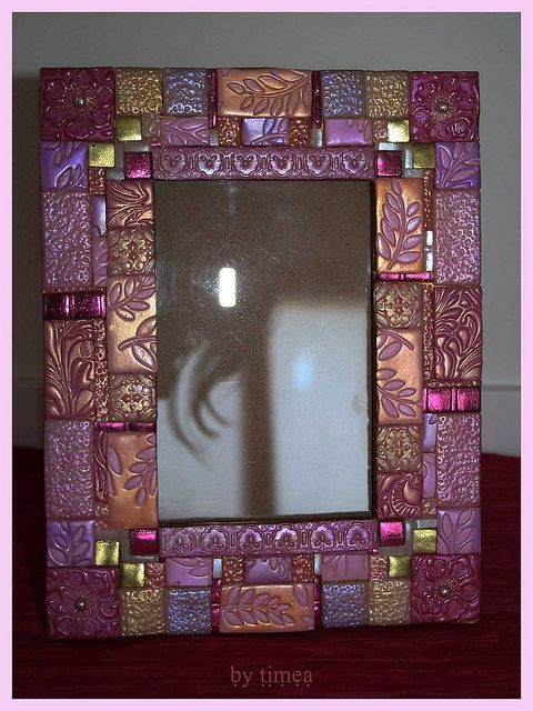 Polymer Clay Mosaic Picture Frame.