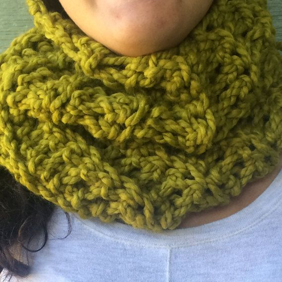 Check out this item in my Etsy shop https://www.etsy.com/listing/469095810/scarf-olive-green-chunky-crochet-neck