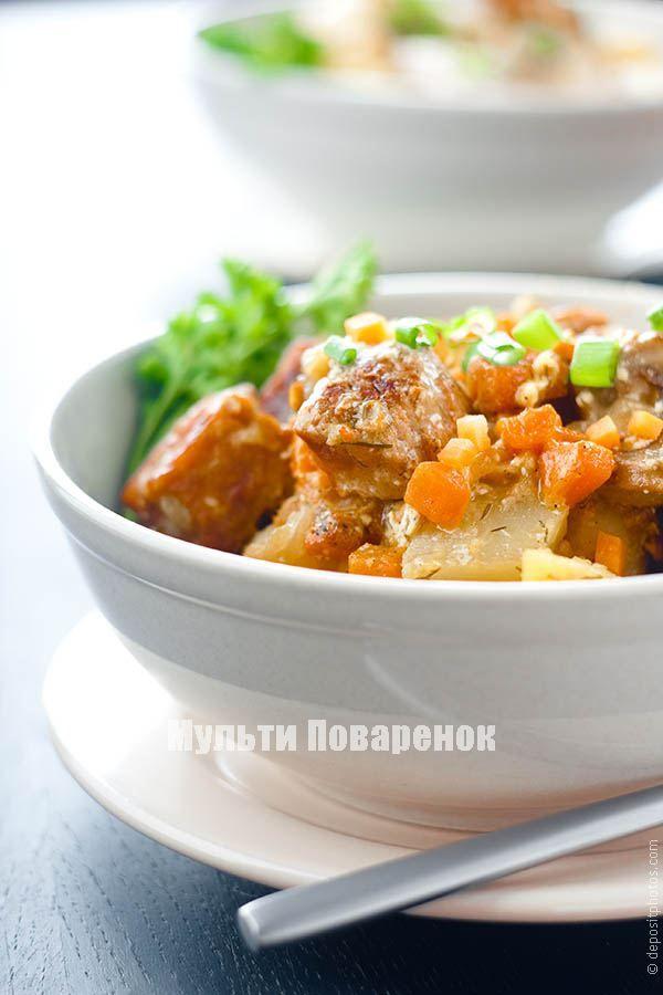 Свинина с картошкой в мультиварке: легкий и вкусный рецепт ...
