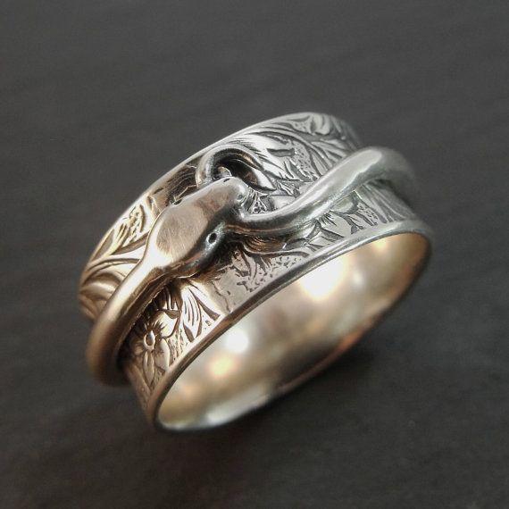 Ring Silber Spinner Ring Schlange Ring Ouroboros Ring Sterling