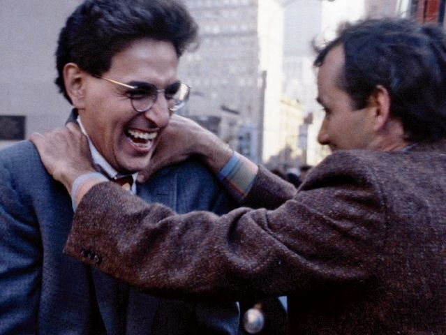 Harold Ramis & Bill Murray behind the scenes on #Ghostbusters (1984)