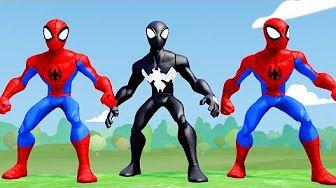 Finger Family Song Nursery Rhyme & Spiderman Hulk Sam Flynn Tron Legacy Superheroes Fun - YouTube