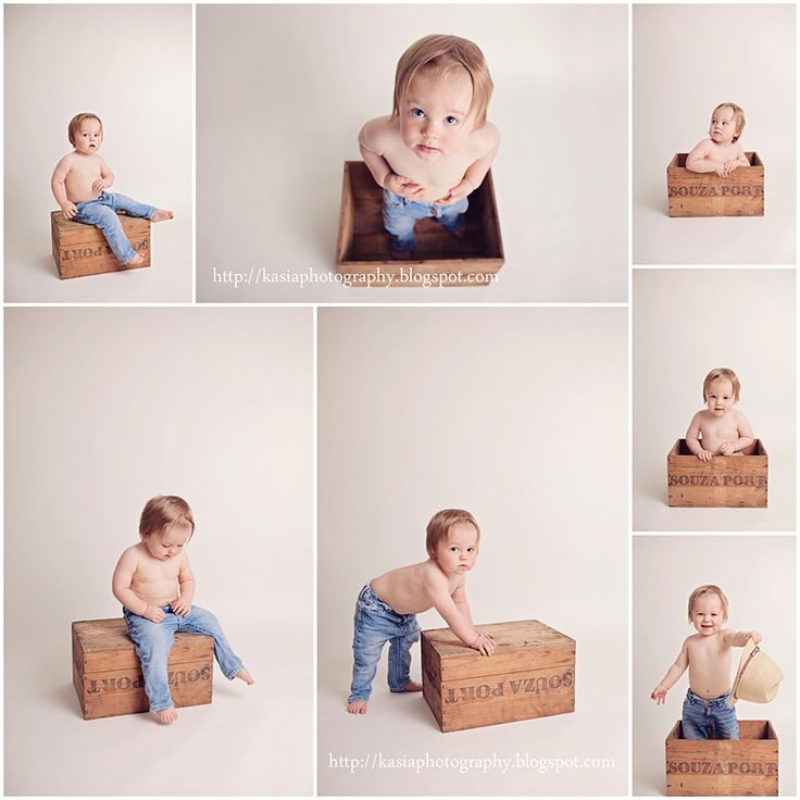 A (cardboard) box is a toddlers best friend! This would work wonderfully for an outdoor portrait session too and would be so easy to prepare for and do!