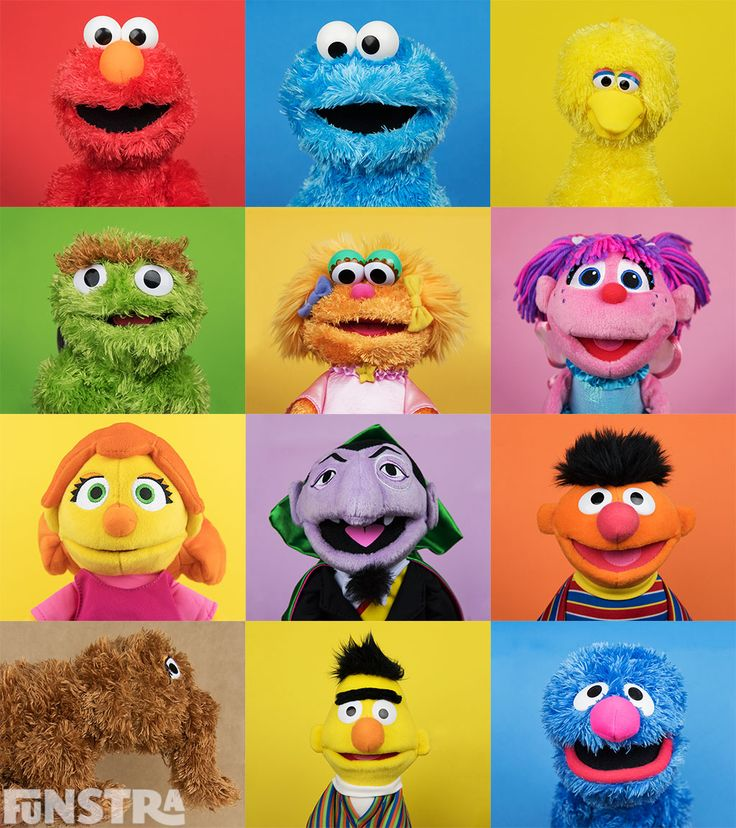 Sesame Street Plushies - Elmo, Cookie Monster, Big Bird, Oscar the Grouch, Zoe, Abby Cadabby, Julia, Count von Count, Ernie, Mr. Snuffleupagus, Bert, Grover and more Sesame Street toys and games available from Funstra