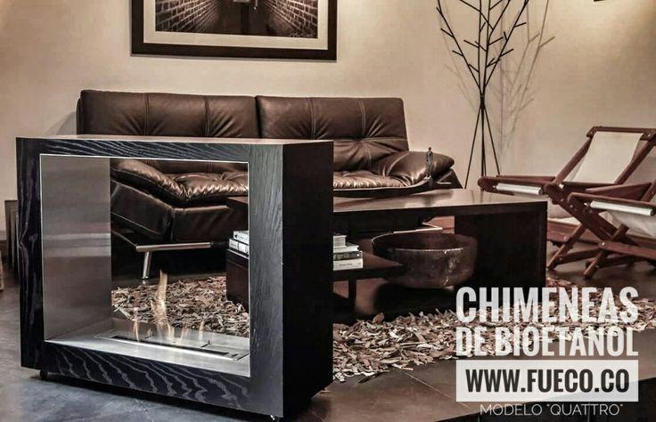 """Modelo """"Quattro"""" con quemador de bioetanol marca #Fueco de 50 cms.  #chimeneas, #bioetanol, #ecologicas, #fueco, #diseño, #hogar"""