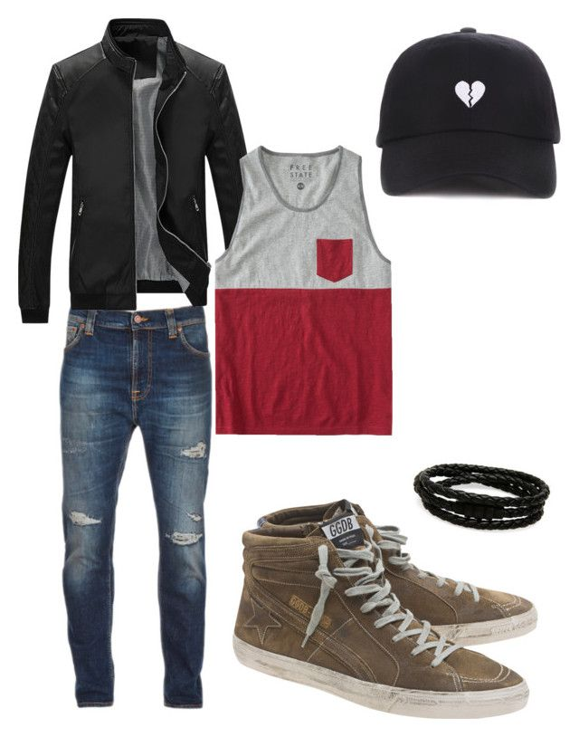 """""""Hobi puppy day~"""" by madi-martinez on Polyvore featuring Nudie Jeans Co., Aéropostale, Golden Goose, Porsche Design, men's fashion and menswear"""