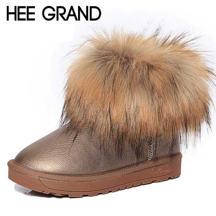 HEE GRAND Brand Women's Shoes Thick Fur Fashion Snow Boots 2016 New Winter Cotton Warm Shoes For Women Ankle Boots XWX3265 #>=#>=#>=#>=#> Click on the pin to check out discount price, color, size, shipping, etc. Save and like it!