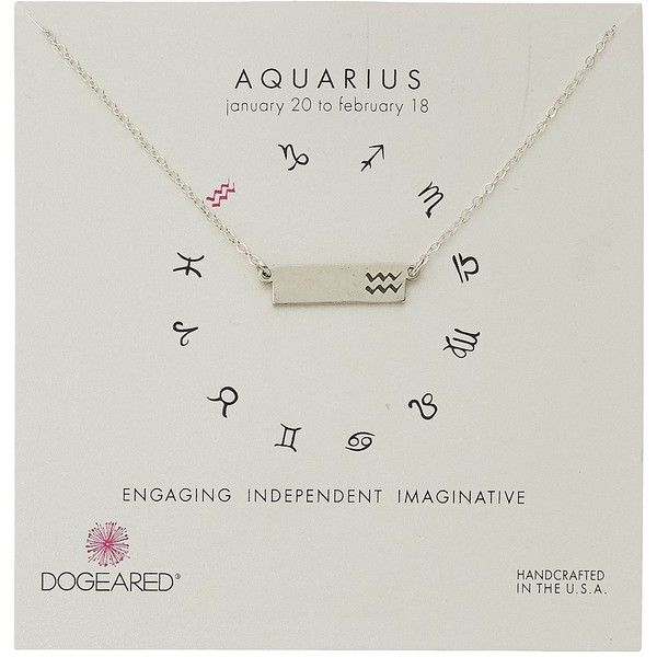 Dogeared Aquarius Zodiac Bar Necklace ($62) ❤ liked on Polyvore featuring jewelry, necklaces, charm pendant necklace, chain pendants, pendant bracelet, charm necklace and pendant chain necklace