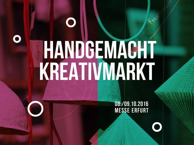 """[Info] MissZuckerguss besucht den 4. """"handgemacht""""-Kreativmarkt in der Messe Erfurt (am 08./09.10.2016)"""