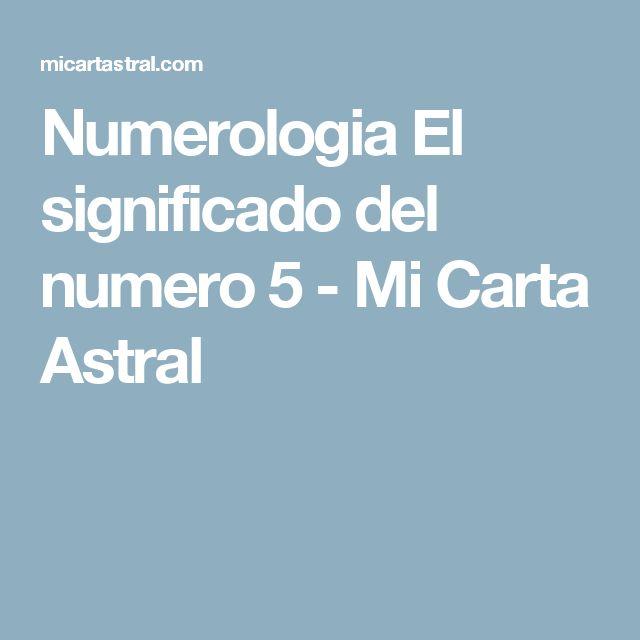 Numerologia El significado del numero 5 - Mi Carta Astral