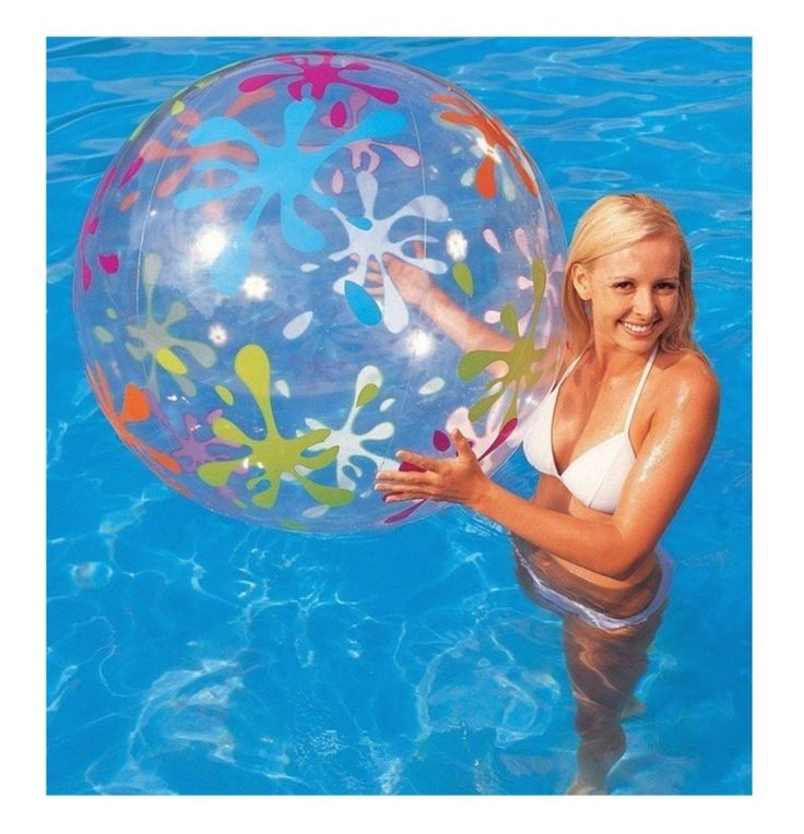 """Beach Ball Swimming Pool Party Giant Inflatable Beachball 48"""" Summer Holiday Fun"""
