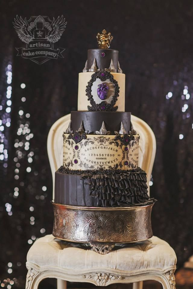 One of a Kind Wedding Cakes from Artisan Cake Company ---  A little macabre if you ask me!