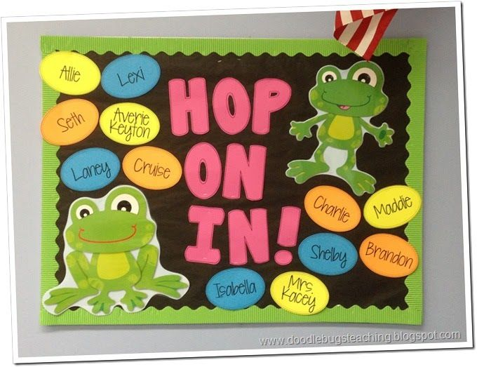 Back to school frog bulletin board @Brittany Horton Horton Peterson
