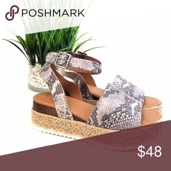 a3e1d9c3da5 HELLO SPRING Comfy Wedges - SNAKE PRINT Super chic and on trend ...