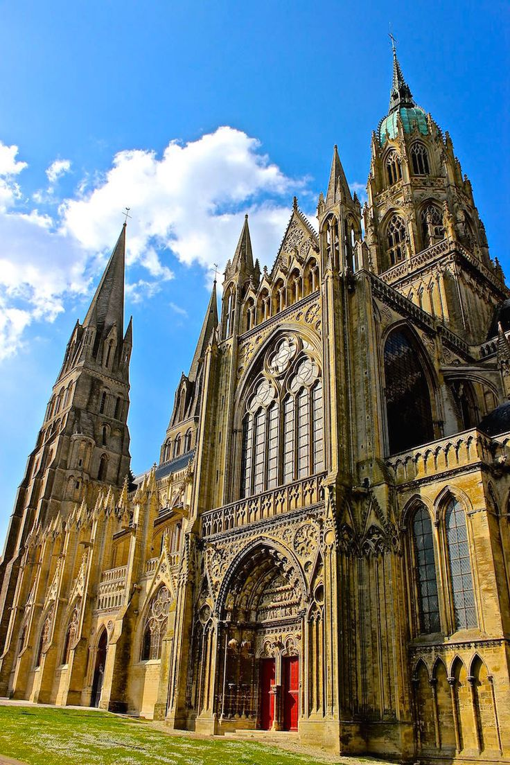 Bayeux Cathedral - Saw William the Conqueror before the 1066 Norman Invasion of England & the D-Day Normandy Invasion of the Allies into France.