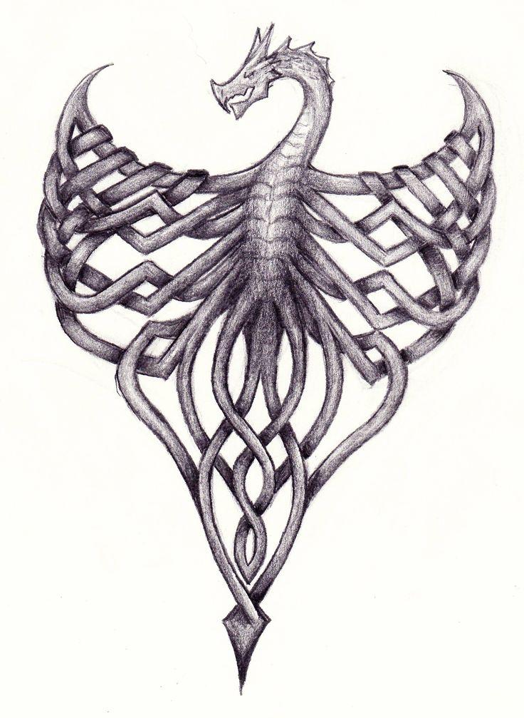 Celtic Knot Dragon by LassofBadassery.deviantart.com on @deviantART