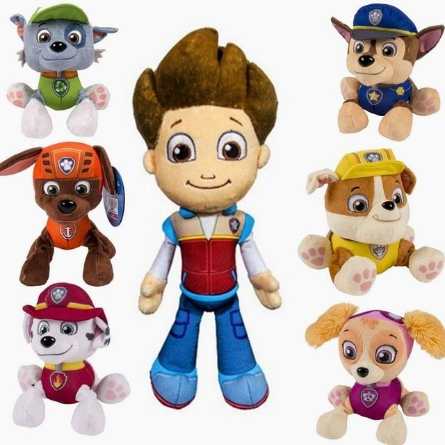 Cartoon Plush Dolls Dog, Children's Toy Puppy Patrol Anime Rice juguetes patrulla cinnamon Toys