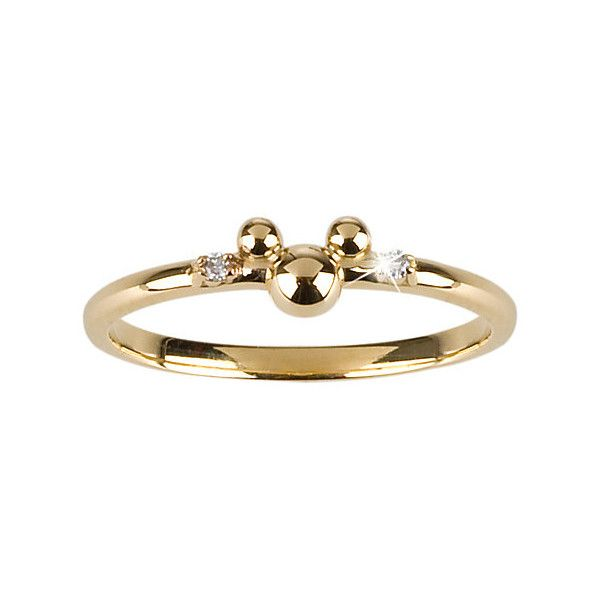 14-Kt. Gold and Diamond Mickey Mouse Ring from the Disney Dream... ($500) ❤ liked on Polyvore