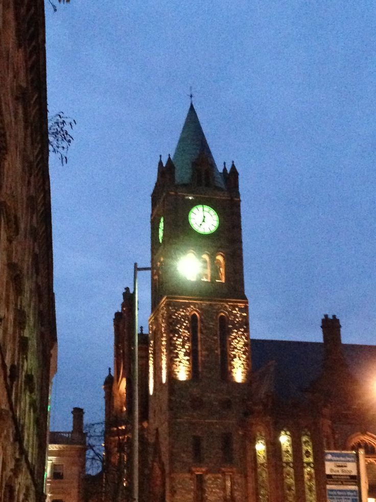 The Guildhall Derry on St Patricks 22