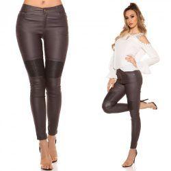 Szürke bőrhatású nadrág