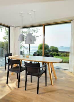 modern Dining room by Bau-Fritz GmbH & Co. KG