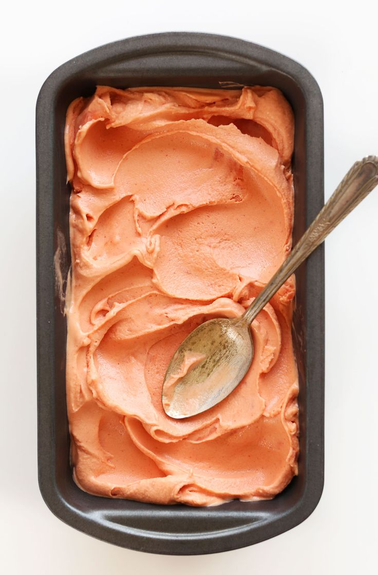 AMAZING Creamy Mango Raspberry COCONUT Sorbet! Perfectly sweet, simple to make and tastes like Guava!