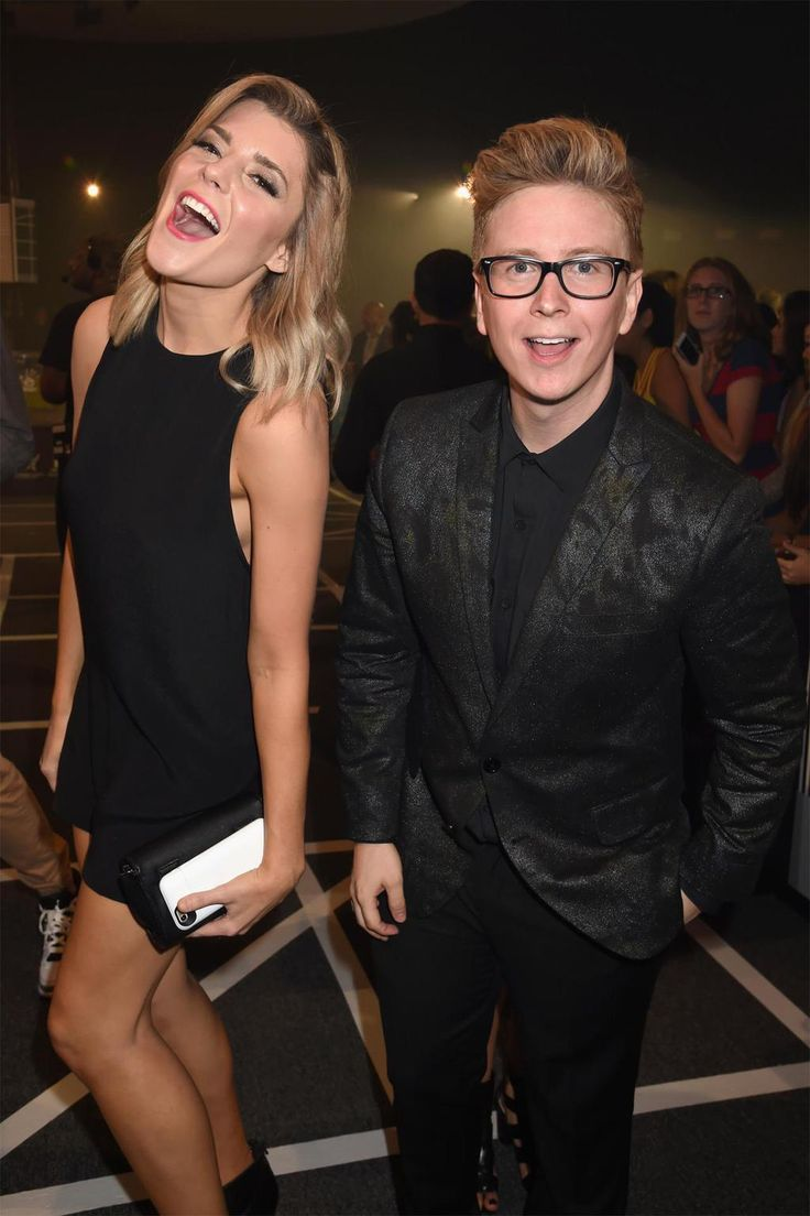 Grace Helbig and Tyler Oakley