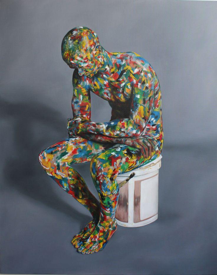 "2016 - Rory Emmett ""Pensive (Colourman Study III)"" Oil on Canvas"