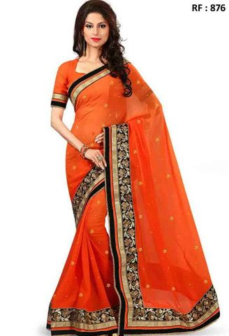 Orange Viscose Designer Saree..@ fashionsbyindia.com #designs #indian #fashion #womens #style #cloths #clothes #stylish #casual #fashionsbyindia #punjabi #suits #wedding #saree #chic #elegance #beauty #outfits #fantasy #embroidered #dress #PakistaniFashion #Fashion #Longsuit #FloralEmbroidery #Fashionista #Fashion2015 #IndianWear #WeddingWear #Bridesmaid #BridalWear #PartyWear #Occasion #OnlineShopping