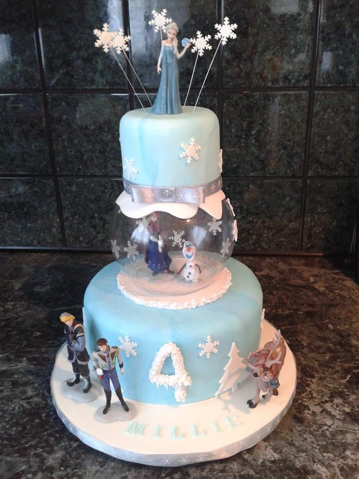 """My latest """"Frozen"""" themed cake was nice to do something a little bit different with this one x"""