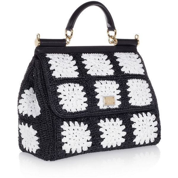 Dolce & Gabbana Miss Sicily crocheted tote ($2,810) ❤ liked on Polyvore