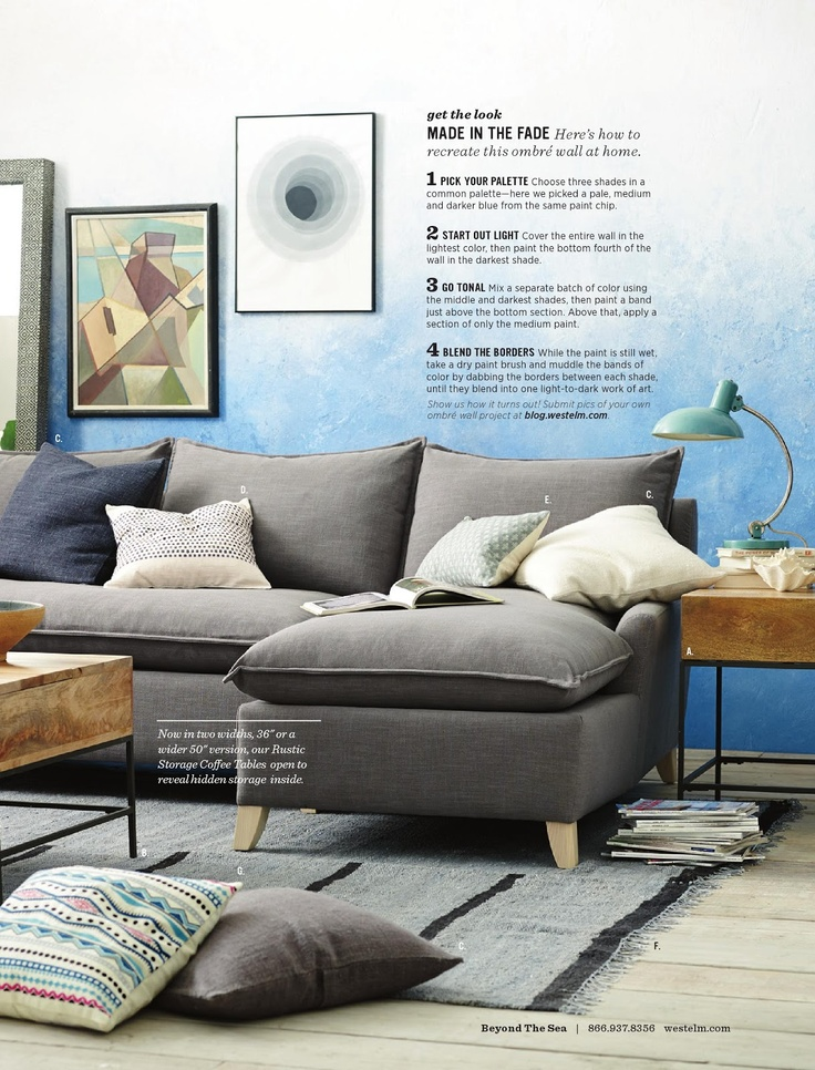 Instructions For Ombré Wall Paintfrom West Elm Catalog. Living Room  IdeasLiving ... Part 94