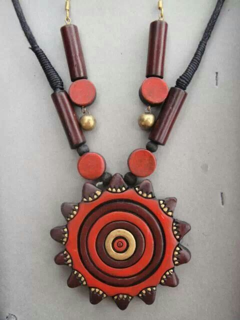terracotta jewellery,elegant design, indian jewellery,Google serch result,terracotta earring,necklace,inspiring ideas, clay jewellery