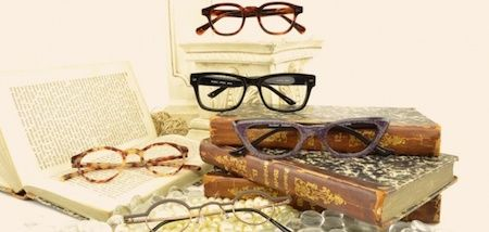 National Book Lovers Day Eyewear Displays- using upcoming calendar events makes the displays current and up to date. This is brilliant as it uses height to give depth and simple objects to create a interesting display. Also it is relevant to needing glasses!