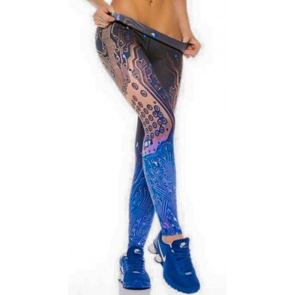 Full length printed tights made with compression supplex for support and firmness hiding cellulite and imperfections. The fabric is odour, wind and water-resistant. Won't shrink, fade, fuss or pill. Moisture wicking effect, quick drying. Model is size AU8