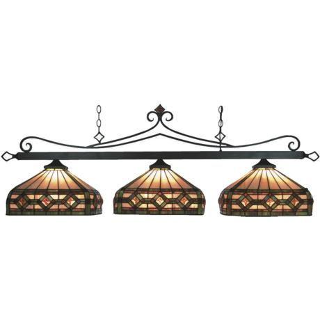 pool table lights | Bronze Tiffany Style Pool Table Light