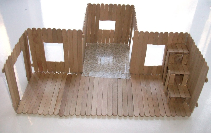 Popsicle Stick House | 104 Days of Summer Vacation: Popsicle Stick House