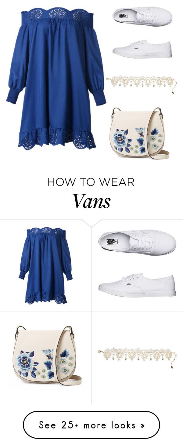 """""""sneakers and dresses"""" by maryamlovesbeauty on Polyvore featuring WithChic, French Connection, Vans and Amrita Singh"""